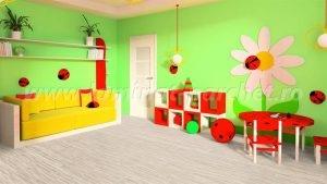 Kronotex Dynamic Clic Listone bianco 2961 dormitor copii